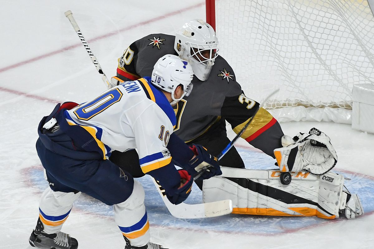 Golden Knights Edge Blues 3 2 In Overtime Despite Injury To Malcolm