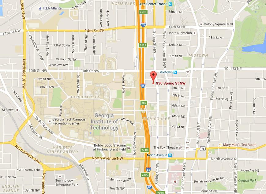 Taco Bell Cantina Atlanta map