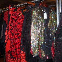 Women's plaid and sequins