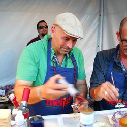 Matthew Biancianiello makes boozy oysters