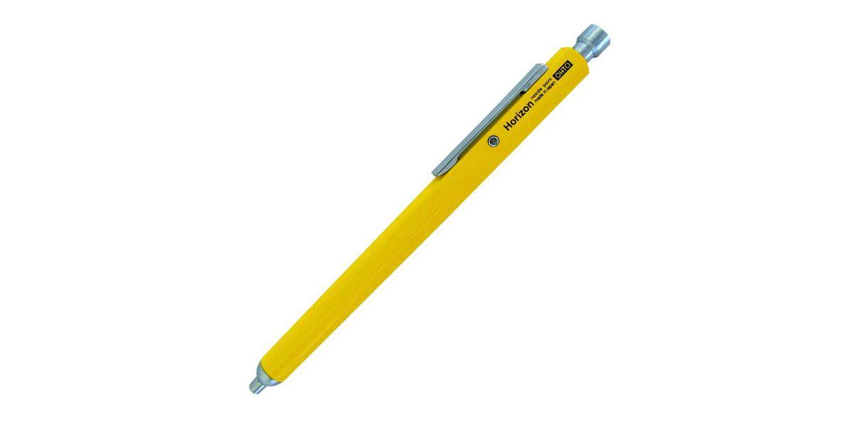 Yellow mechanical pen.