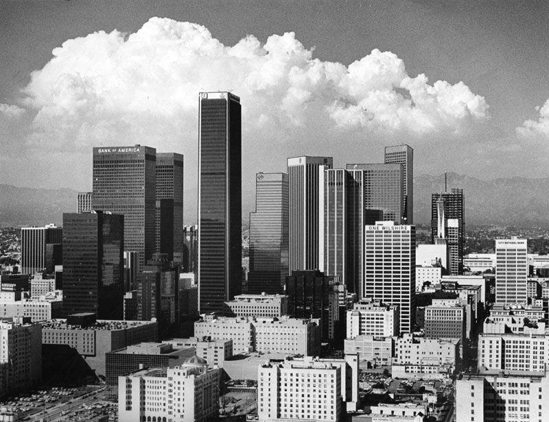Downtown LA skyline, 1984