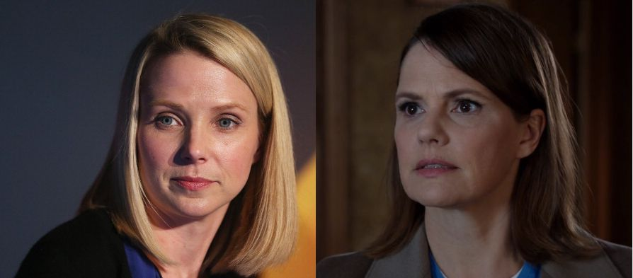 (L) The real Marissa Mayer. (R) The fictional Laurie Bream. Possibly the same gal!