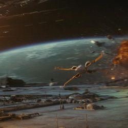 Star Wars: The Last Jedi   Poe's Resistance X-Wing  Photo: Lucasfilm Ltd.   © 2017 Lucasfilm Ltd. All Rights Reserved.