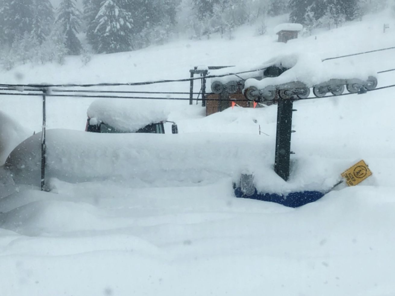 Idaho ski area closes because of too much snow