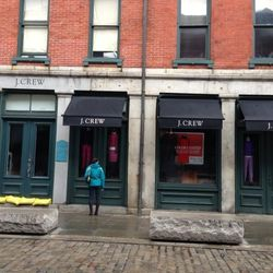 """Racked boss Lockhart Steele surveyed the damage at the South Street Seaport. He writes, """"The legendary first J. Crew location took on a good bit of water. Mannequin carnage inside."""""""