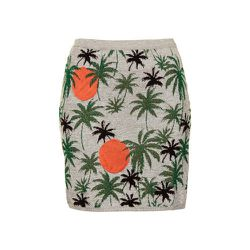 """<strong>Topshop</strong> Palm Tree Lurex Skirt, <a href=""""http://us.topshop.com/en/tsus/product/clothing-70483/skirts-70504/palm-tree-lurex-skirt-2730124?bi=1&ps=200"""">$76</a>"""