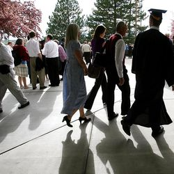 Spring Commencement Exercises at BYU Thursday, April 19, 2012 at the Marriott Center.