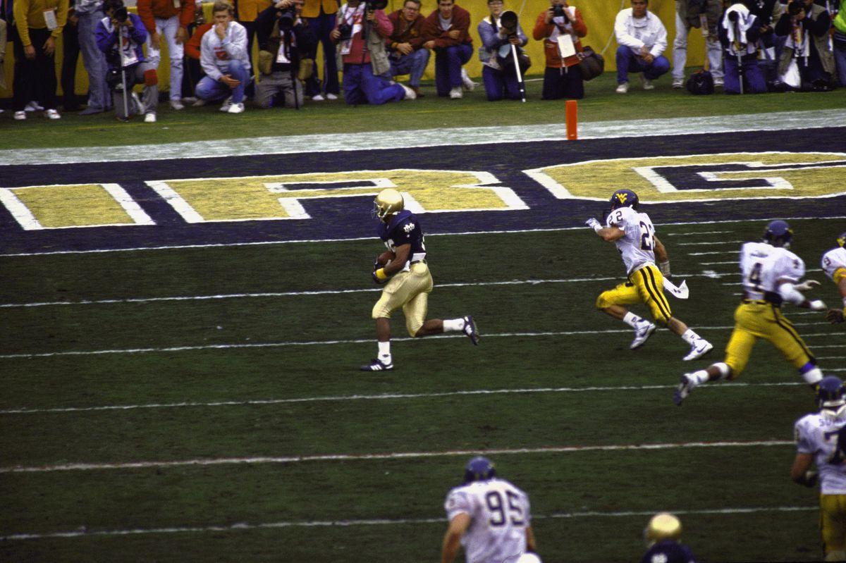 West Virginia University vs University of Notre Dame, 1989 Fiesta Bowl