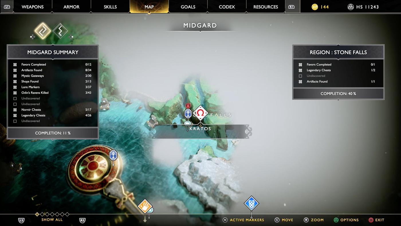 God of War guide: Veithurgard and Stone Falls walkthrough
