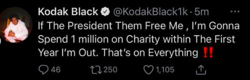 Kodak Black vows to donate $1 million if President Trump pardons him -  REVOLT