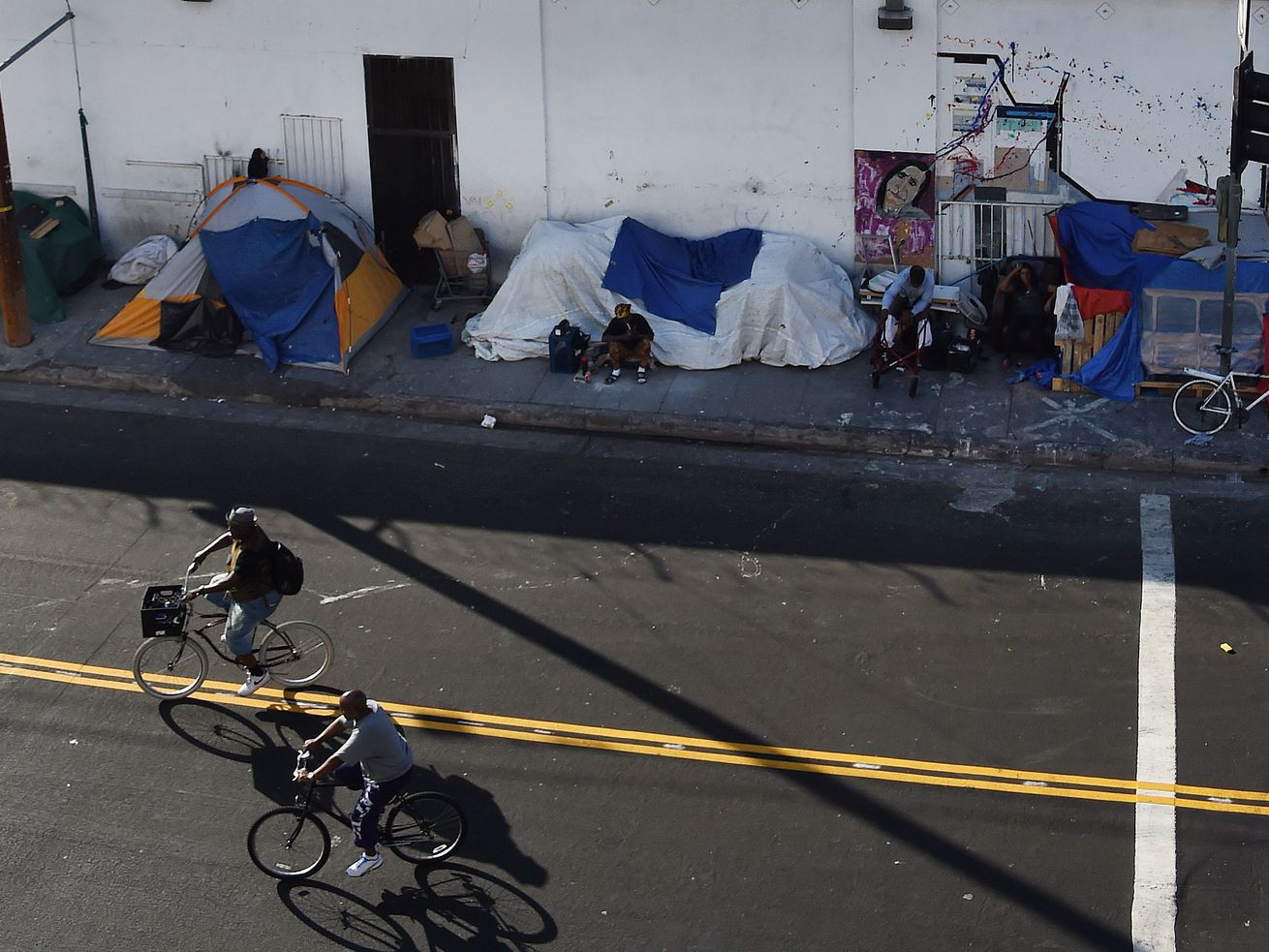 People who ride bikes through Skid Row now have to leave the neighborhood to find a bike lane.