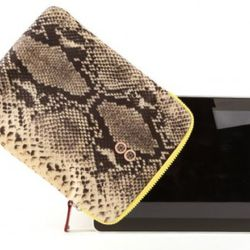 Snake Print iPad Case, MZ Wallace, $75<br />Tote your iPad around in style with this fabulous snake print iPad case by MZ Wallace! The bright yellow trim adds an unexpected pop of color.