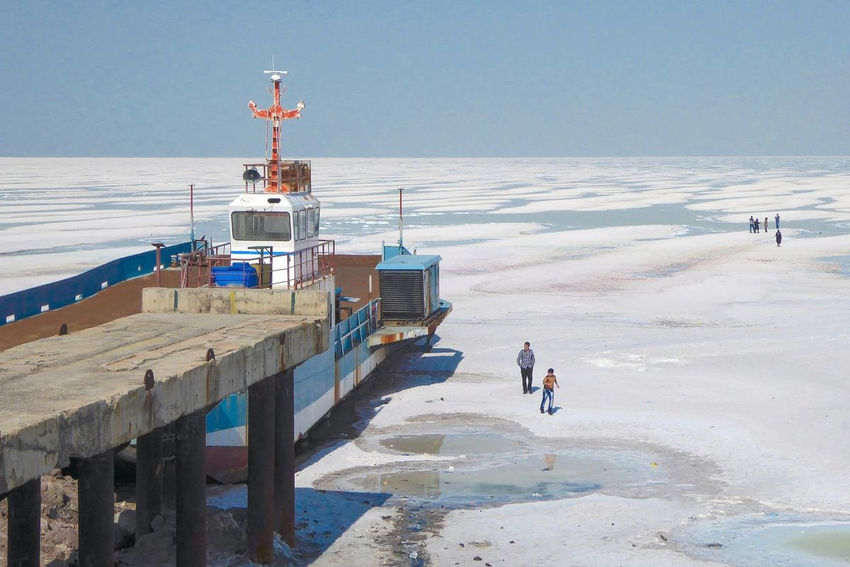 Lake Urmia in Iran is drying up like Utah's Great Salt Lake.