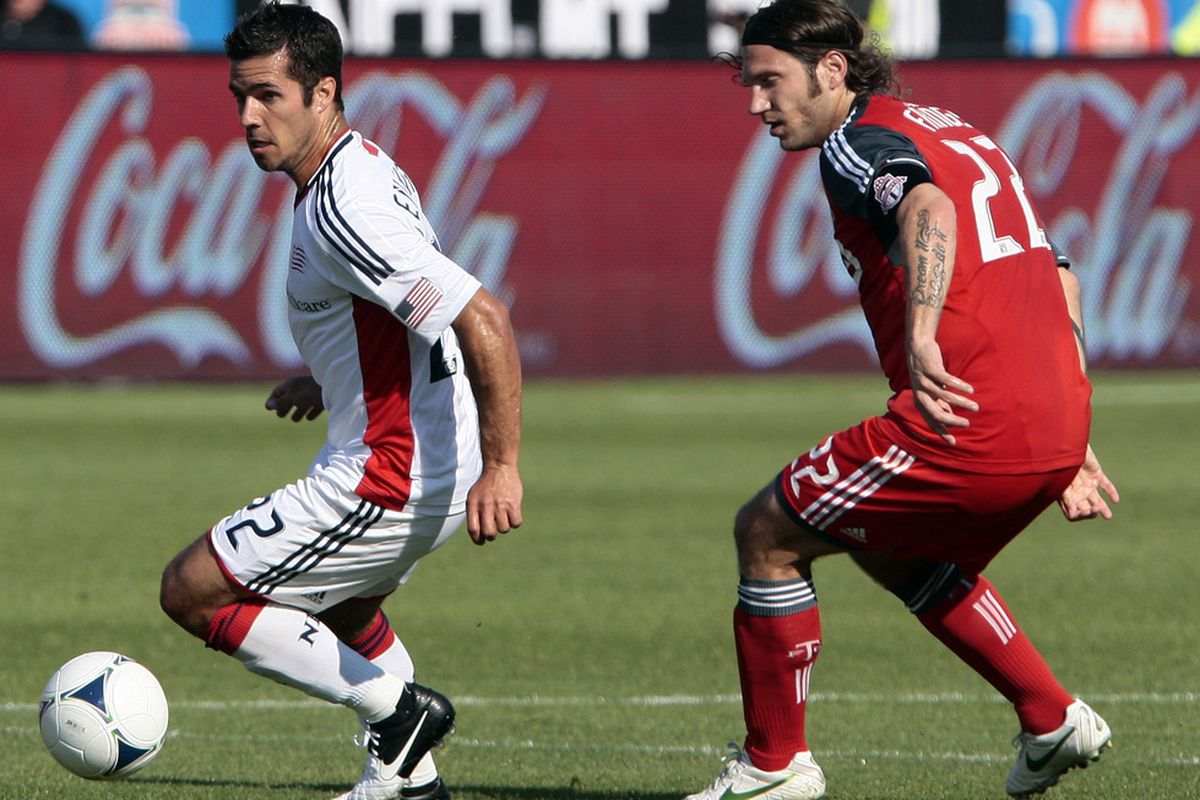 Benny Feilhaber is just one of many great ball handlers in New England's midfield (Photo by Abelimages/Getty Images)