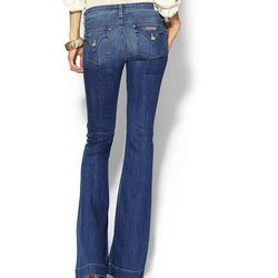 """<b>Narrow Hips:</b> <b>Hudson</b> Ferris Flare Jeans, <a href=""""http://piperlime.gap.com/browse/product.do?pid=100482&locale=en_US&kwid=1&sem=false&sdReferer=https%3A%2F%2Fwww.google.com%2F"""">$198</a> at Piperlime"""