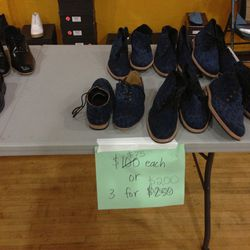Men's shoes, $75 a pair or three for $200