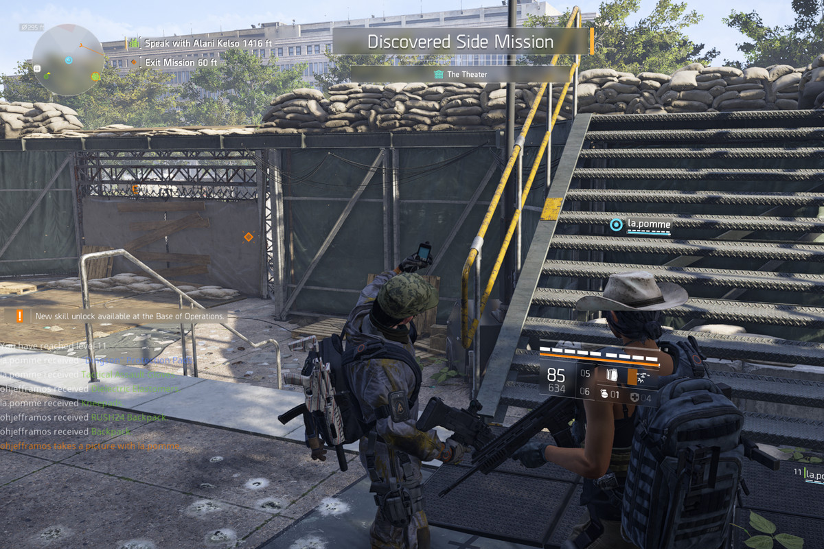 A soldier taking a selfie in The Division 2