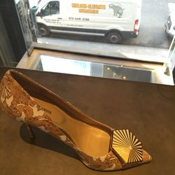 Heels, size 40.5, now $322.40 (from $403)