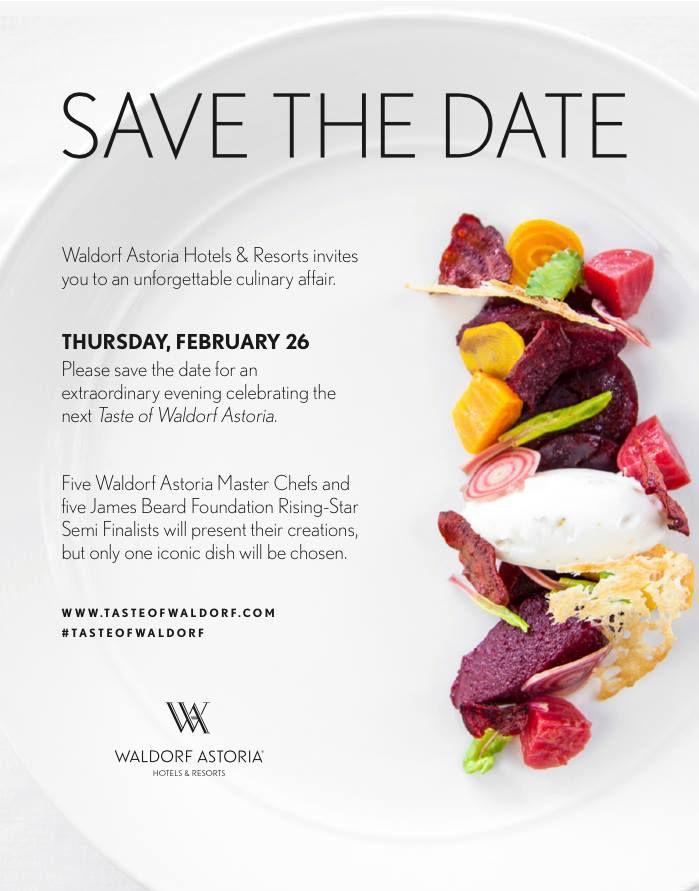 waldorf astoria invite