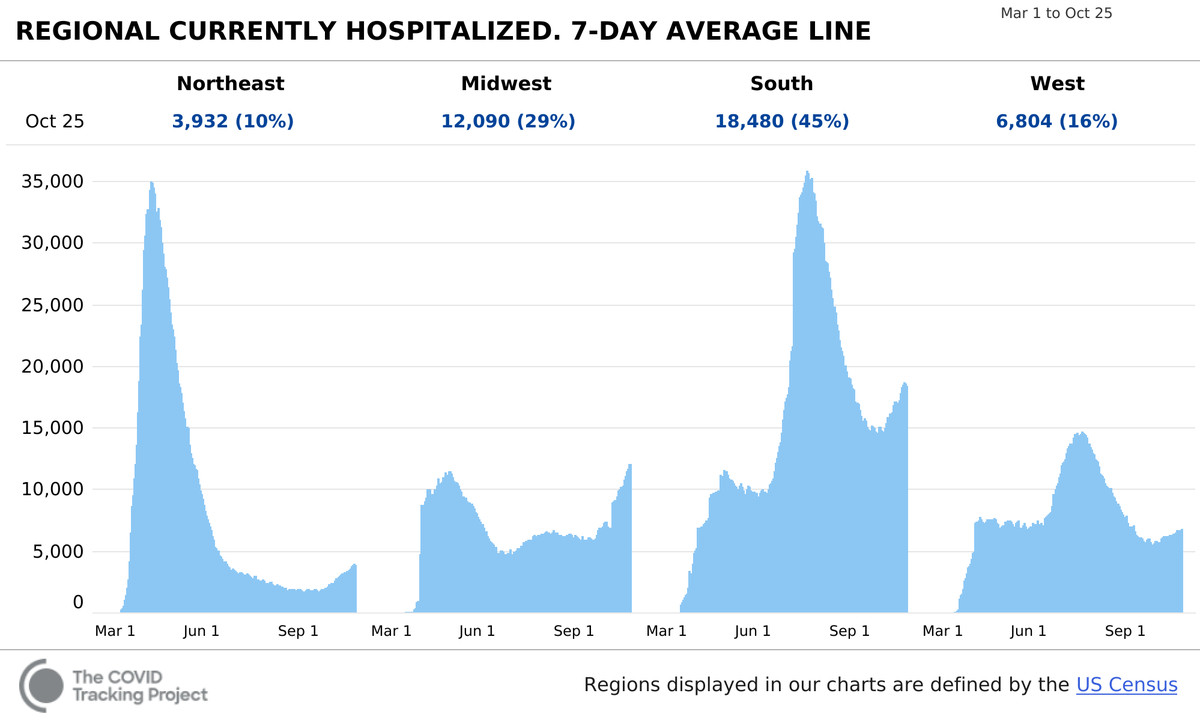 The new wave of US Covid-19 cases is straining hospitals