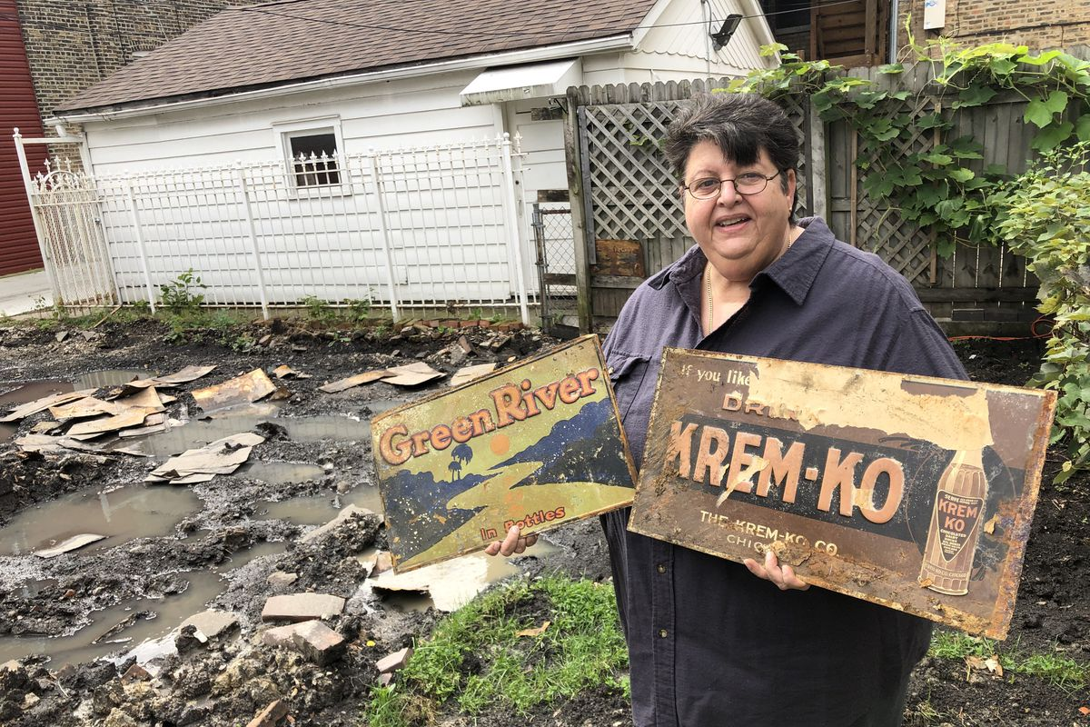 Chicago history including vintage signs found buried under Northwest Side garage