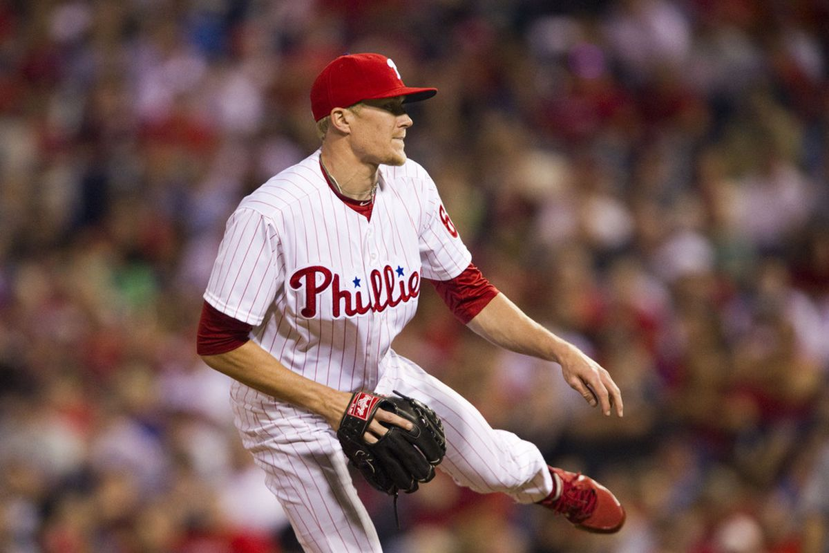 Diekman's dance moves are not as good as Pete Orr's. Mandatory Credit: Howard Smith-US PRESSWIRE