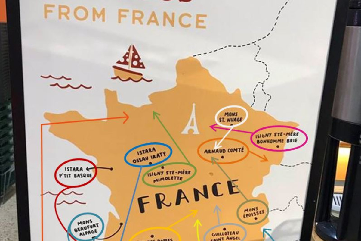 French Cheese Lovers Trolled By Inaccurate Whole Foods Map Eater