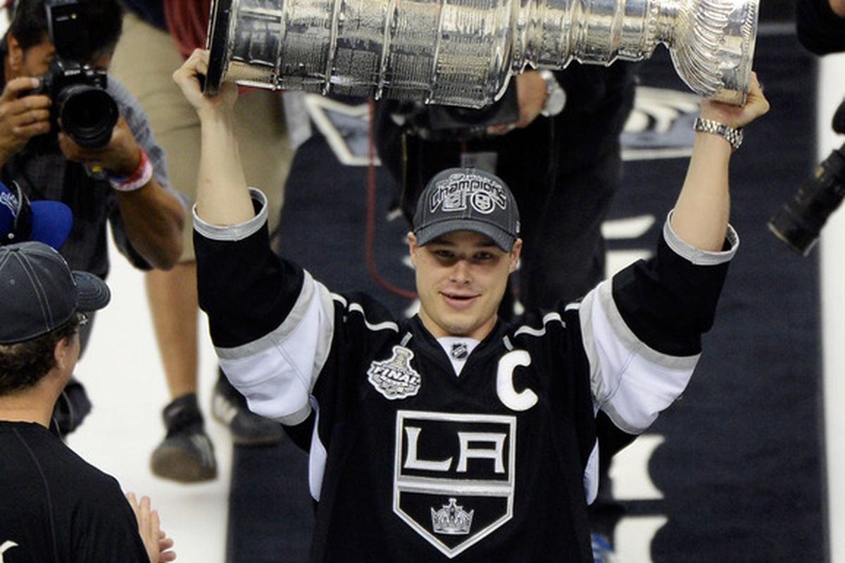The 23rd best Cup raise since the lockout.  (Photo by Kevork Djansezian/Getty Images)