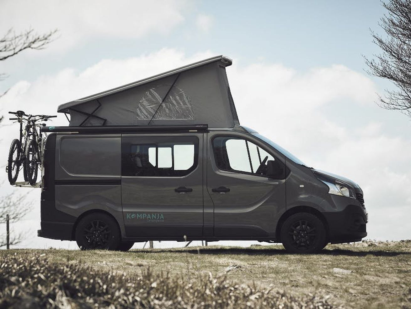 The Kompanja out of Germany can sleep four people and also work as a daily driver, camper, or cargo van.