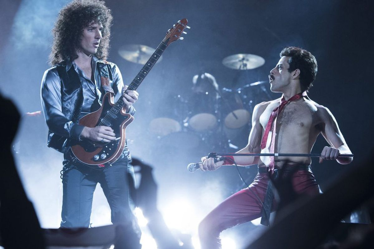 """Since the release of award-winning biopic """"Bohemian Rhapsody"""" last fall (starring Rami Malek as Freddie Mercury, pictured in a scene from the film), the music of Queen has found a new surge. According to Nielsen reports released last week, the British ban"""