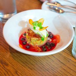 """Strawberry and rose ice cream with English peas and mint from Ssam bar by <a href=""""http://www.flickr.com/photos/jmoranmoya/6225668833/in/pool-eater/"""">jmoranmoya</a>."""