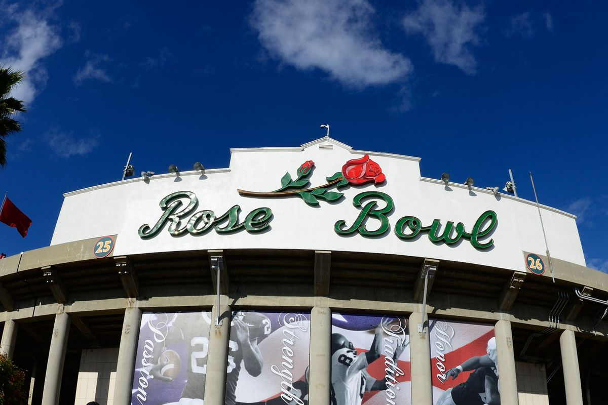 The Rose Bowl in Pasadena, California: the site of tonight's BCS National Championship Game