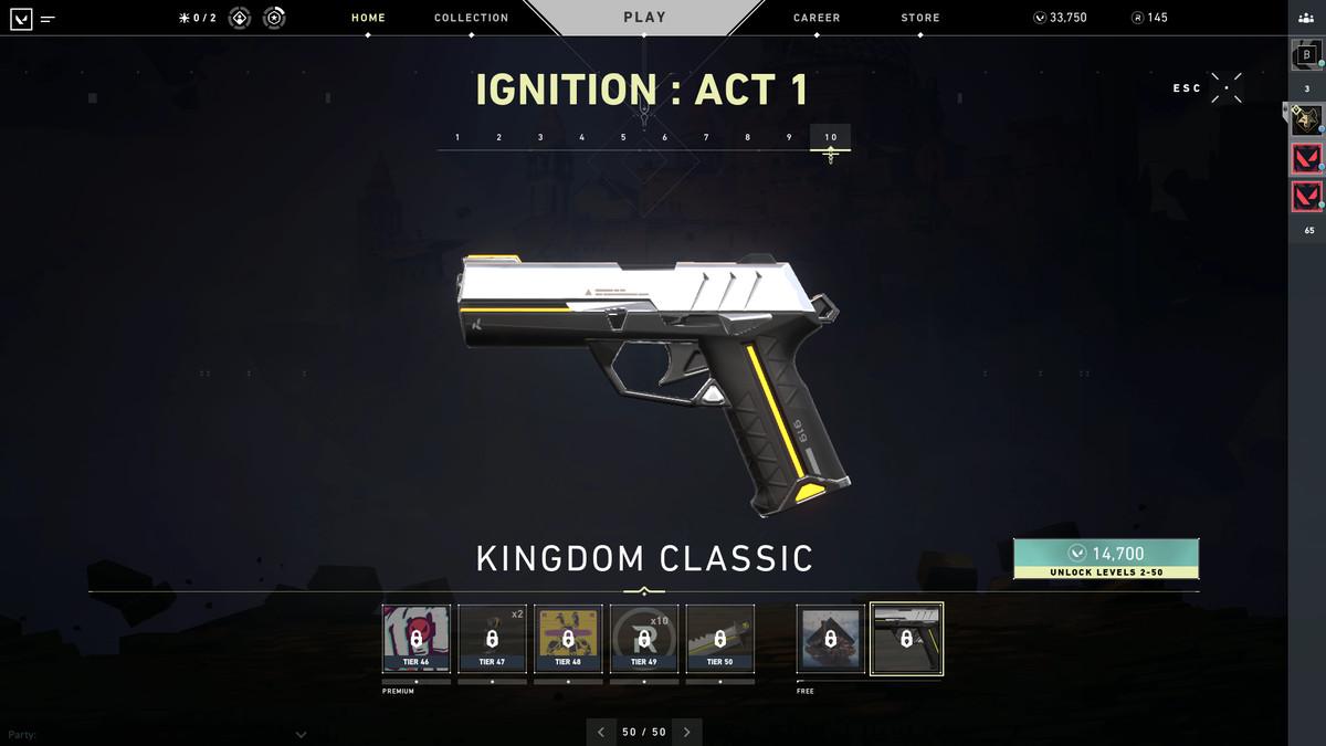Valorant's Kingdom Classic pistol skin