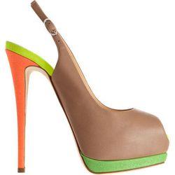 "<b>Giuseppe Zanotti</b>, 6 inches, <a href=""http://www.barneys.com/Giuseppe-Zanotti-Fluorescent-Platform-Slingback/502424963,default,pd.html?cgid=women&index=43"">$695</a>"