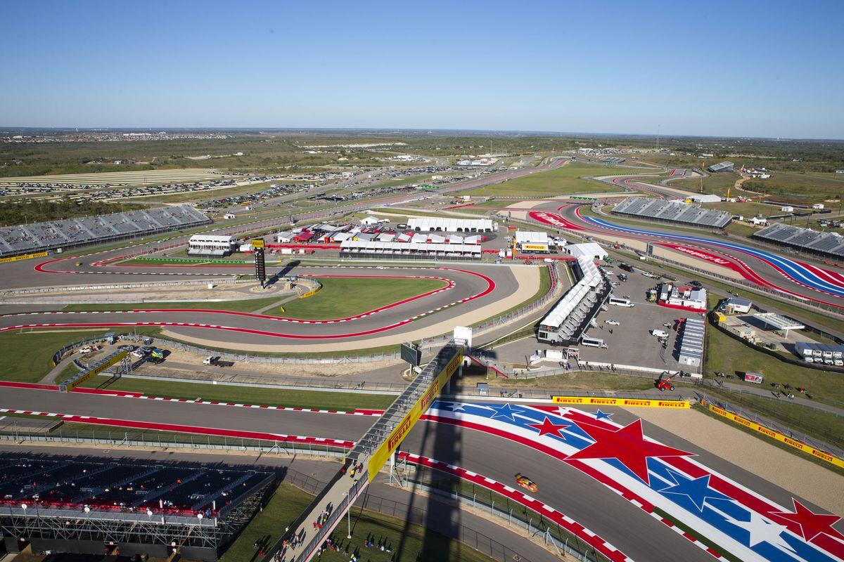 A general view of the track during practice runs at the United States Formula One Grand Prix at Circuit of The Americas on October 31, 2014 in Austin, United States.