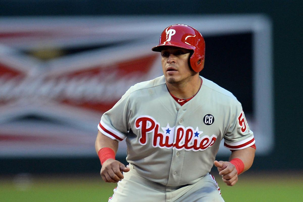 He's Carlos Ruiz and he's always alert and ready to pounce!