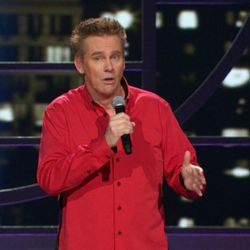"""Brian Regan prowls the stage performing his singular (and clean) brand of stand-up comedy for """"Brian Regan: Live From Radio City Music Hall,"""" now on DVD."""