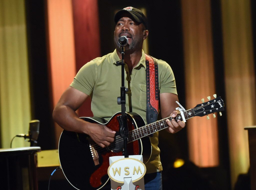 Singer/Songwriter Darius Rucker performs during Grand Ole Opry Total Eclipse 2017 Special Sunday Night Show at Grand Ole Opry House on August 20, 2017 in Nashville, Tennessee. His new album is due Oct. 20.   Rick Diamond/Getty Images