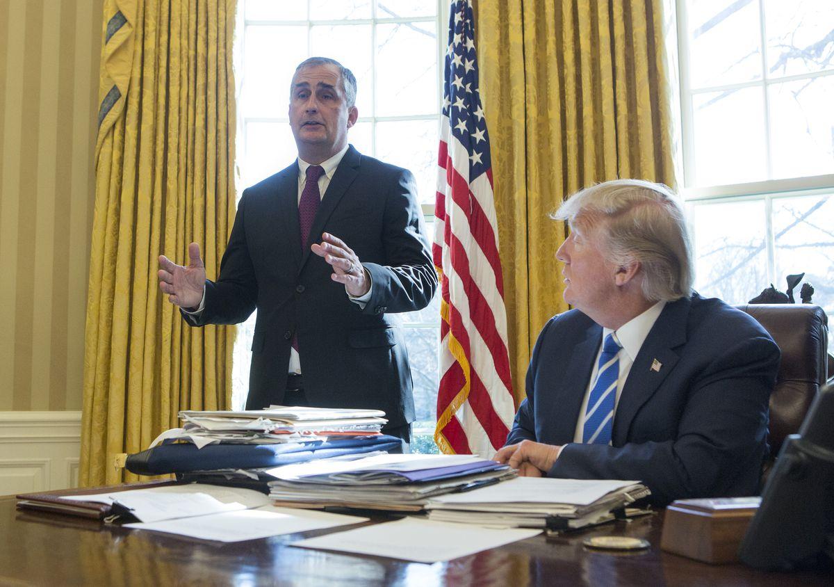 President Trump Meets With Intel CEO Brian Krzanich