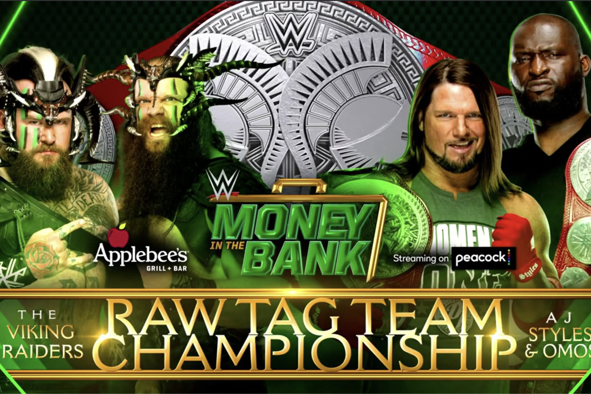 Raw tag team title match added to Money in the Bank - Cageside Seats