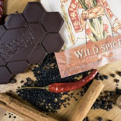 """The Chocolate Conspiracy's """"Wild Spice"""" bar. AJ Wentworth's artisan chocolate company will celebrate eight years of business in August."""