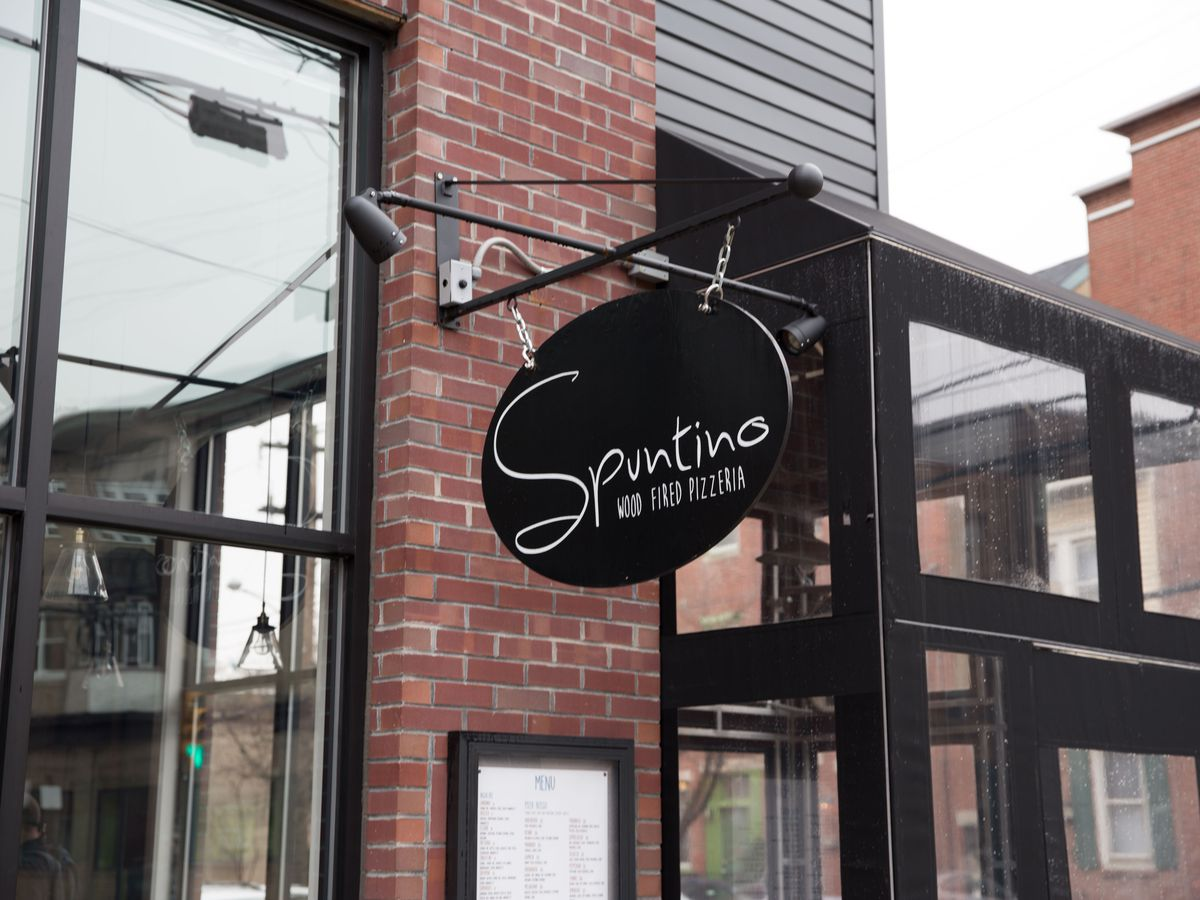 sign that says spuntino