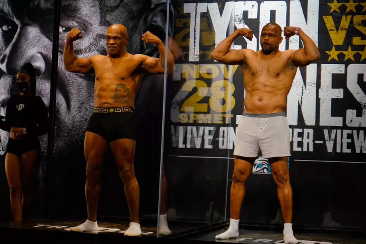 Mike Tyson and Roy Jones Jr.