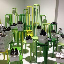The women's shoe selection