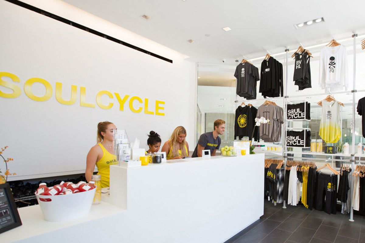 SoulCycle's Beverly Hills sweat sanctuary.
