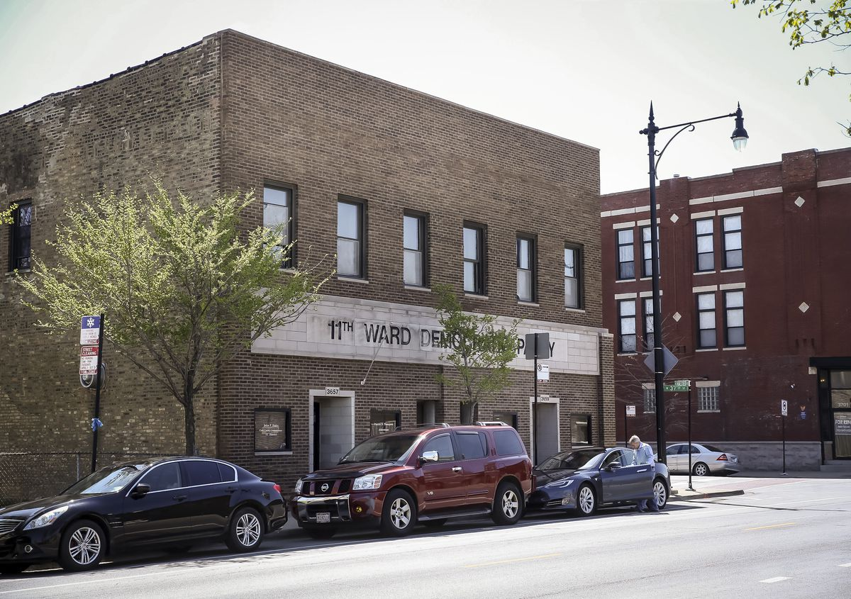 The 11th Ward Regular Democratic Organization headquarters at 3659 S. Halsted St. in Bridgeport.