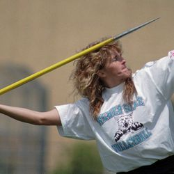 Teri Spiers during her days competing at Weber State.