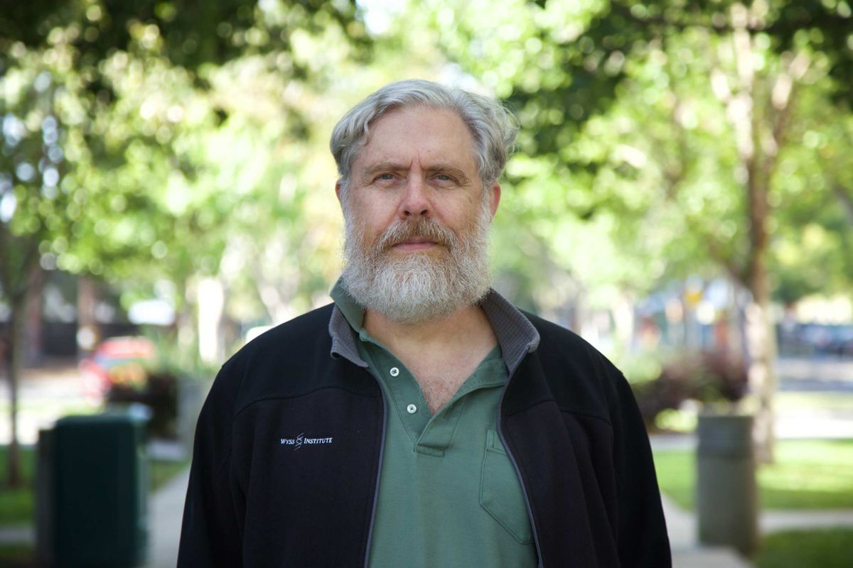George Church at Google's campus in Mountain View, Calif.