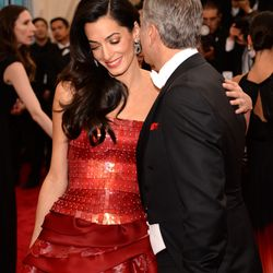 Amal Clooney in John Galliano and George Clooney